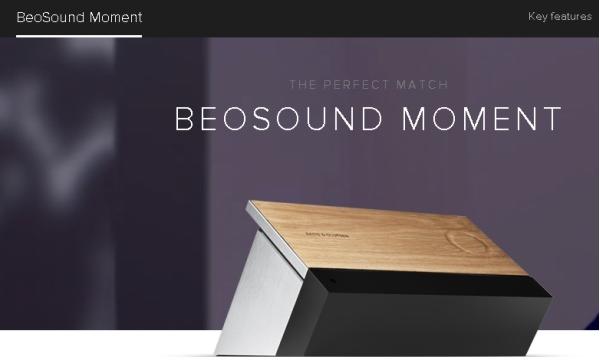 "BeoSound Moment、""気分に合った音楽""を再生するスピーカー"