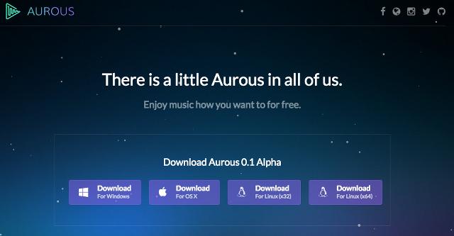 無料の音楽ストリーミングサービス「Aurous」が始まる