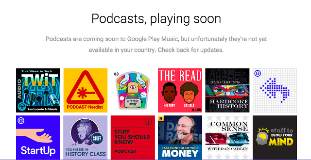 Google Play Music、Podcast配信に参入へ