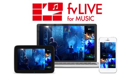 マルチアングルライブ配信「fvLIVE forMusic」が楽しそう
