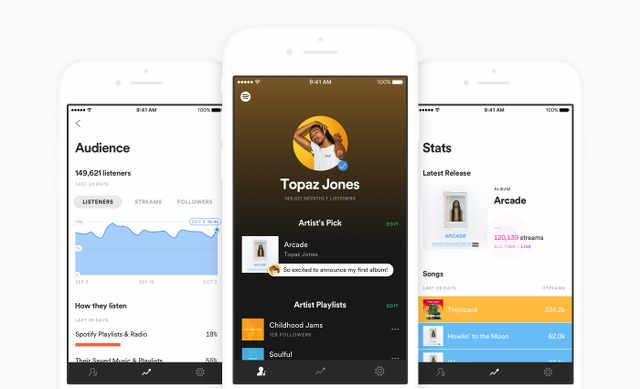 Spotify for Artistsアプリ発表、アーティスト支援強化へ