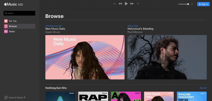 Apple Music、ブラウザで再生可能に【アプリやiTunes不要】